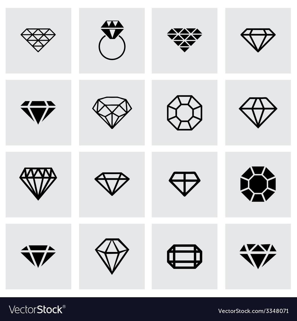 Diamond icon set vector | Price: 1 Credit (USD $1)