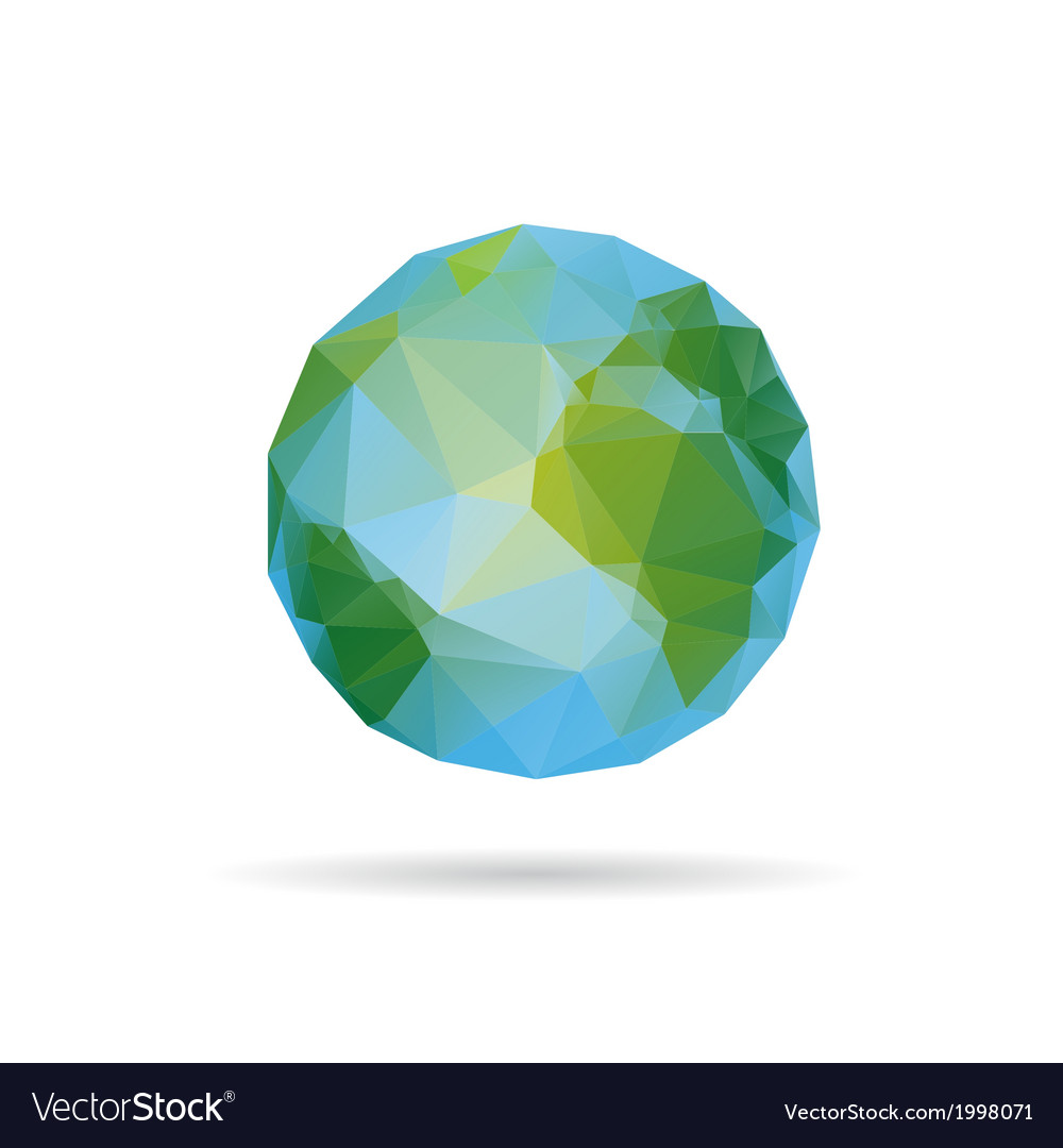 Earth abstract isolated vector | Price: 1 Credit (USD $1)