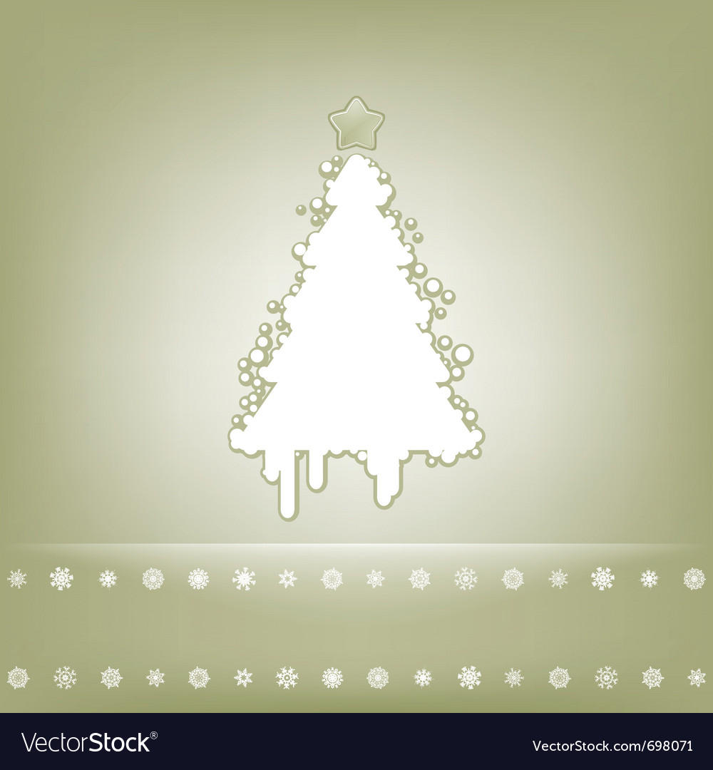 Elegant christmas tree card vector | Price: 1 Credit (USD $1)