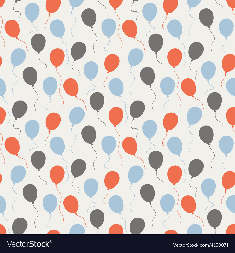 Festive pattern with balloons vector | Price: 1 Credit (USD $1)