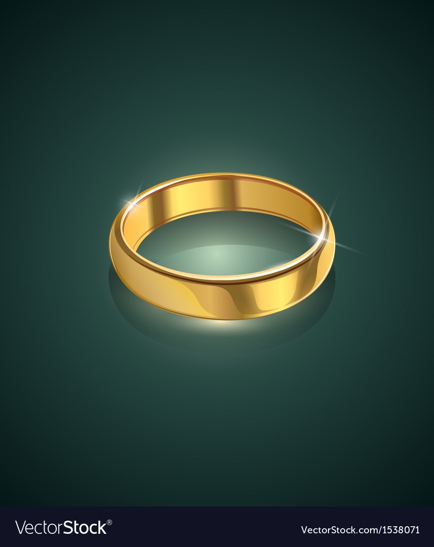 Golden wedding ring vector | Price: 1 Credit (USD $1)