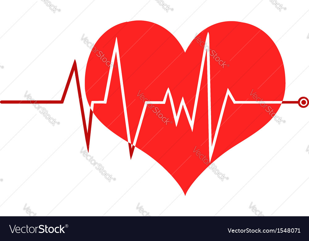 Heart beat monitor vector | Price: 1 Credit (USD $1)