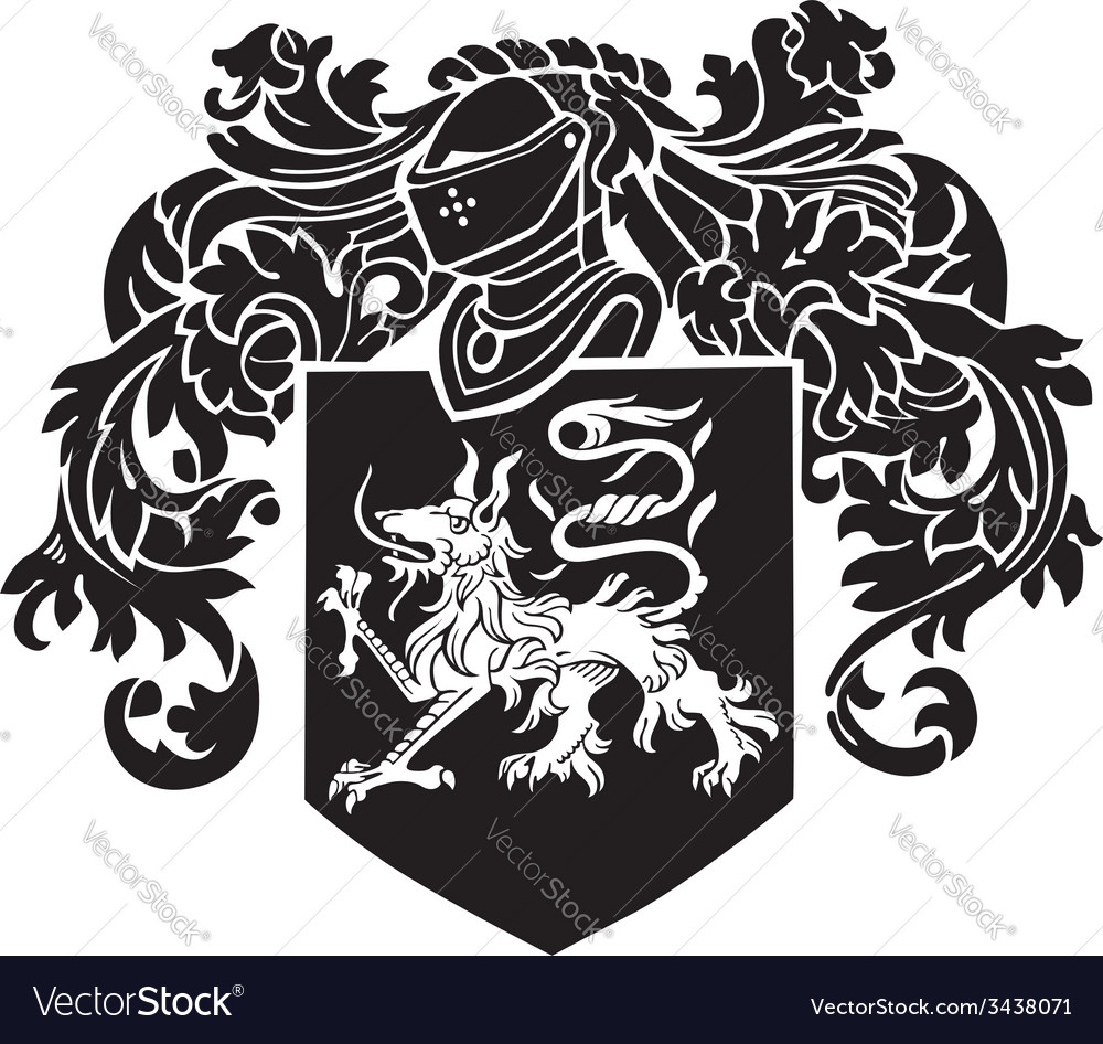 Heraldic silhouette no2 vector | Price: 1 Credit (USD $1)