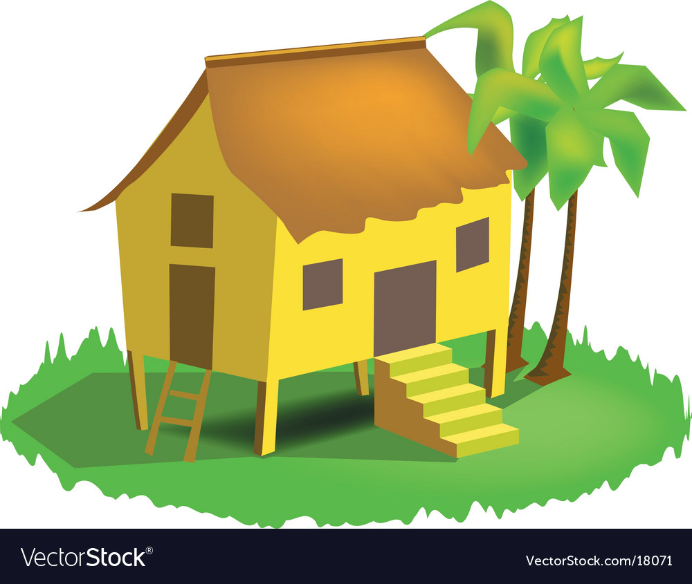 Malay house vector | Price: 1 Credit (USD $1)