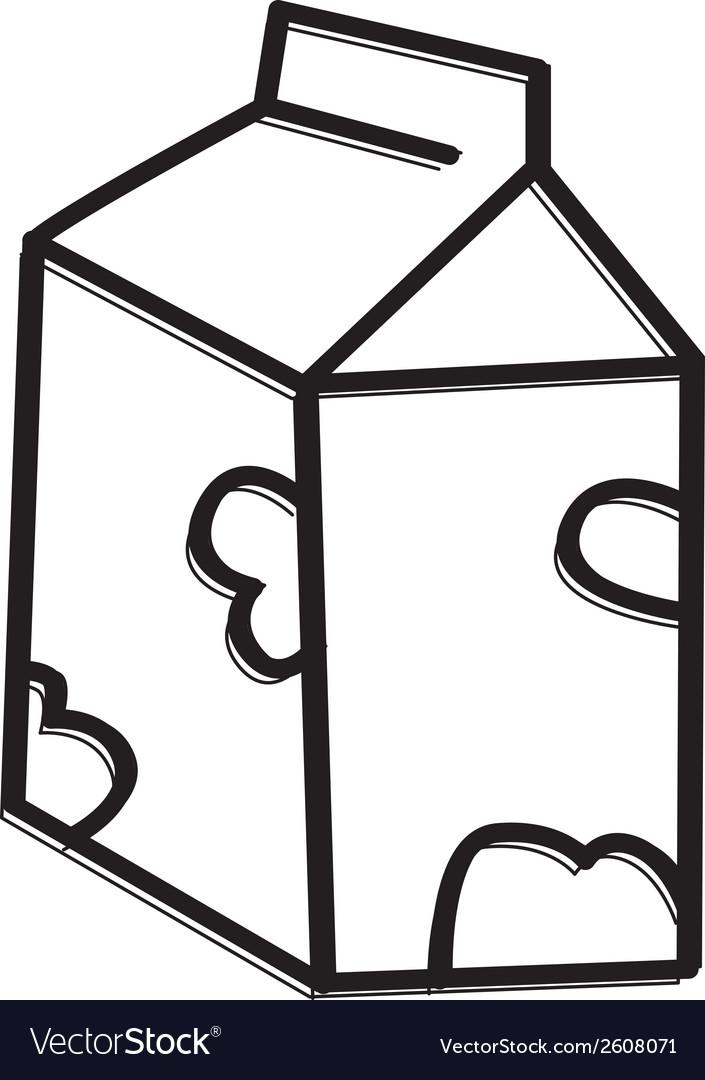 Milk carton icon vector | Price: 1 Credit (USD $1)