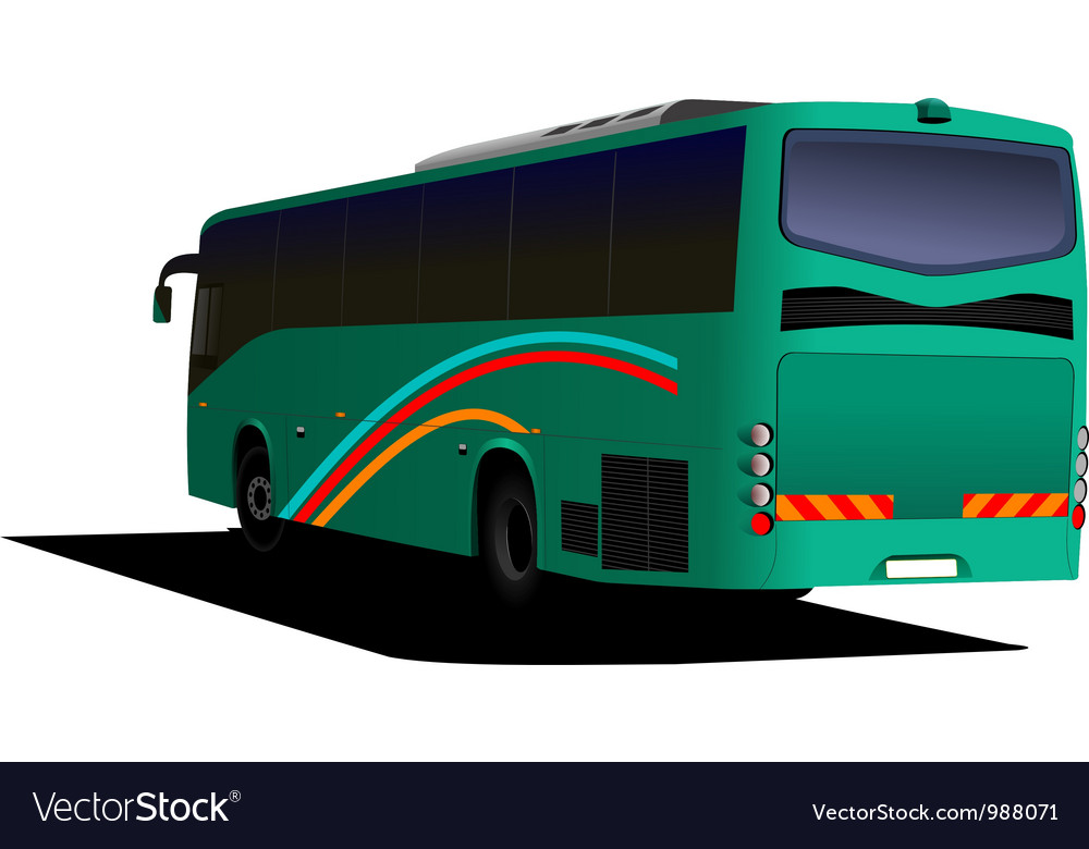 Rear view of bus vector | Price: 1 Credit (USD $1)
