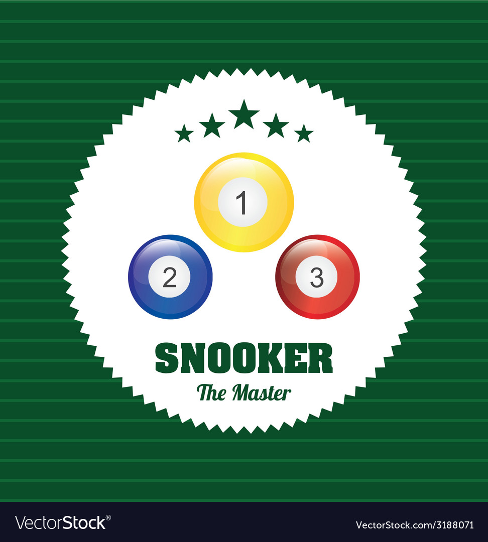 Snooker design vector | Price: 1 Credit (USD $1)