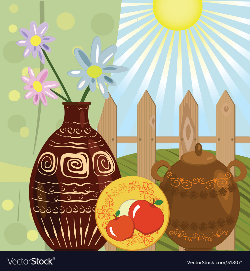 Still life rustic vector | Price: 1 Credit (USD $1)