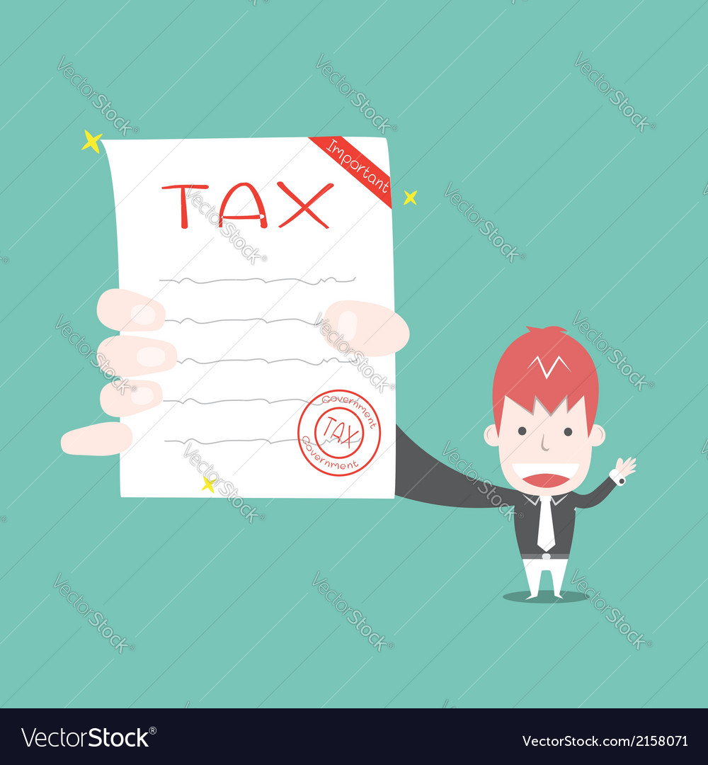 Tax document cartoon business vector | Price: 1 Credit (USD $1)