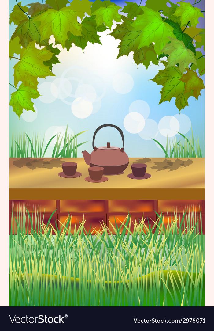 Tea ceremony menu vector   Price: 1 Credit (USD $1)