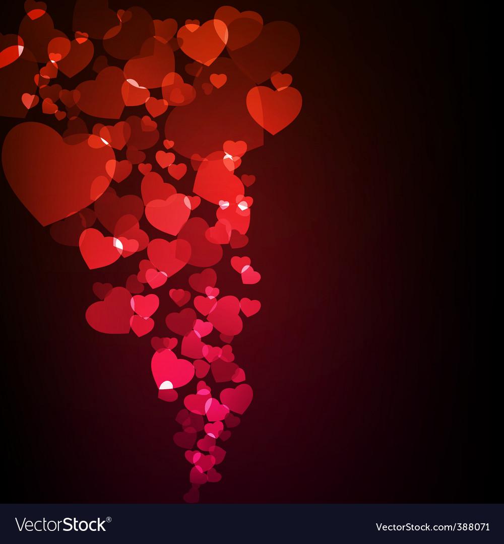 Valentine glowing background vector   Price: 1 Credit (USD $1)