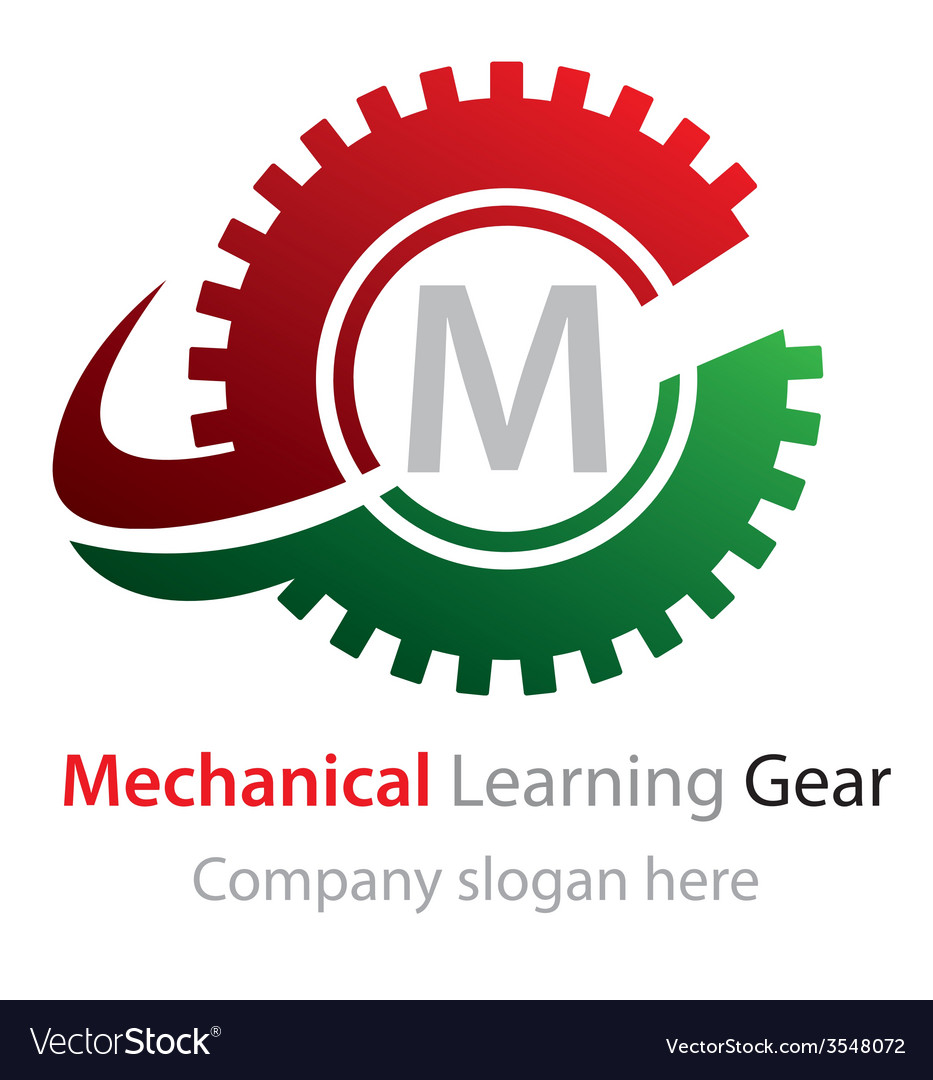 Abstract mechanical learning gear logo vector | Price: 1 Credit (USD $1)