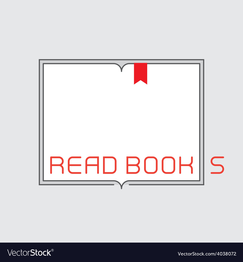 Border with inscription  read books outline open vector