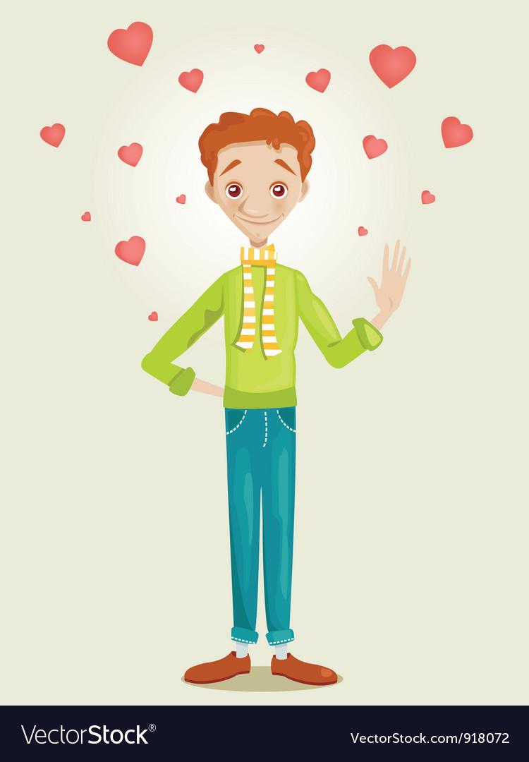 Boy in love vector   Price: 1 Credit (USD $1)