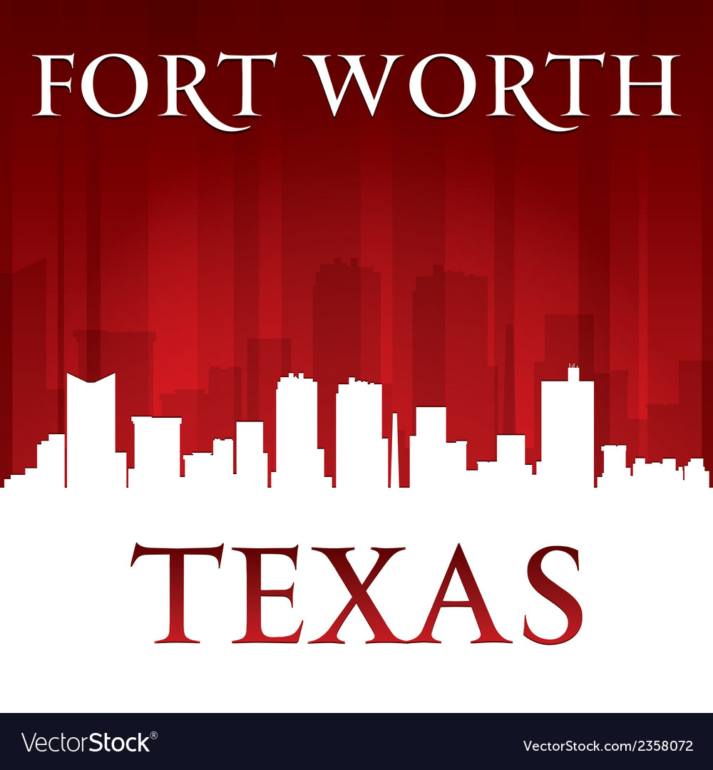 Fort worth texas city skyline silhouette vector | Price: 1 Credit (USD $1)