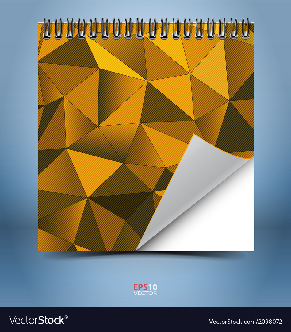 Notepad with spiral binder and abstract mosaic vector | Price: 1 Credit (USD $1)