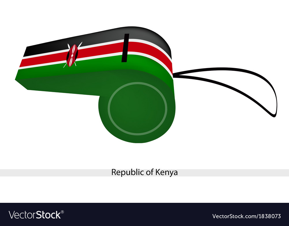 A whistle of the republic of kenya vector | Price: 1 Credit (USD $1)