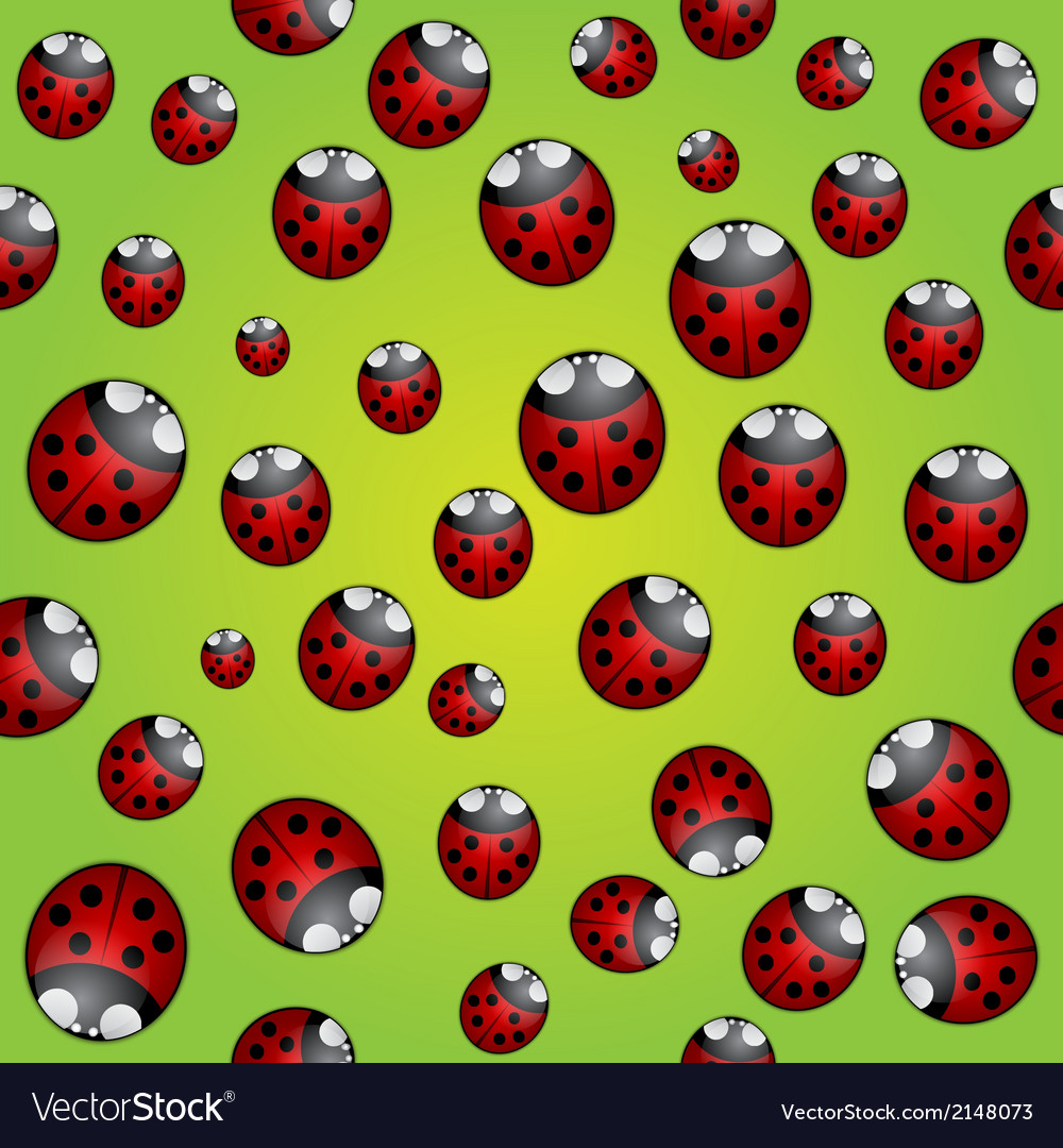 Abstract background seamless pattern with ladybugs vector | Price: 1 Credit (USD $1)