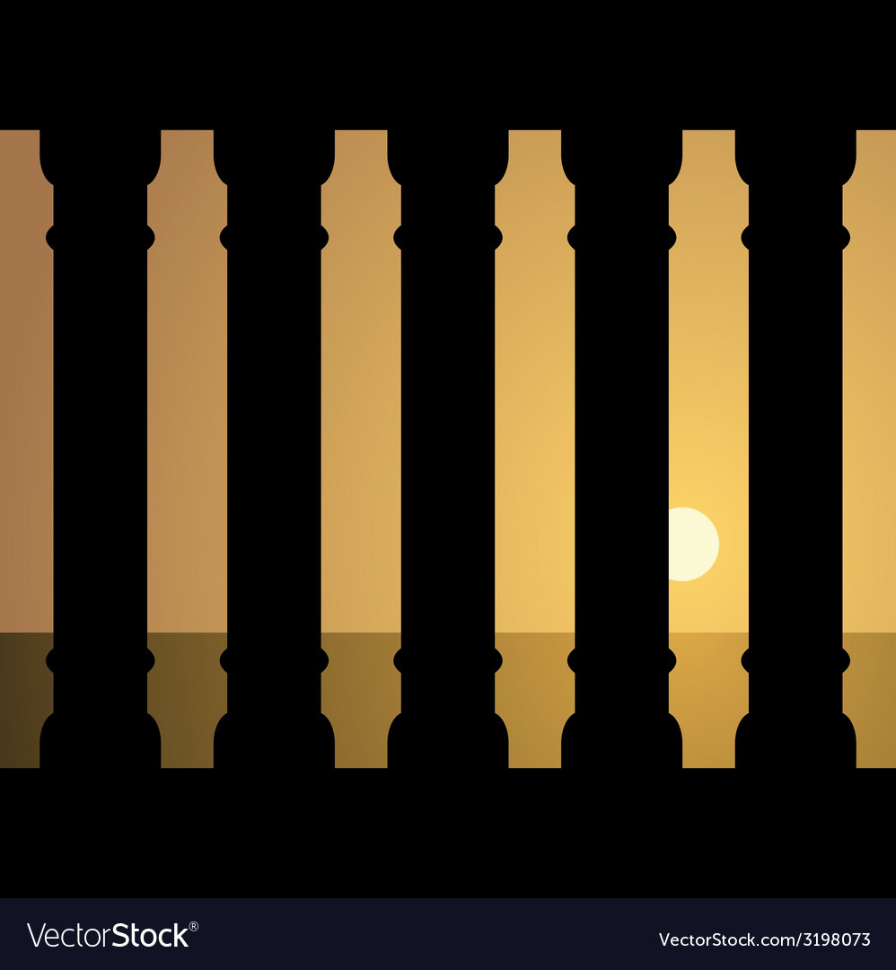 Ancient sunset vector | Price: 1 Credit (USD $1)