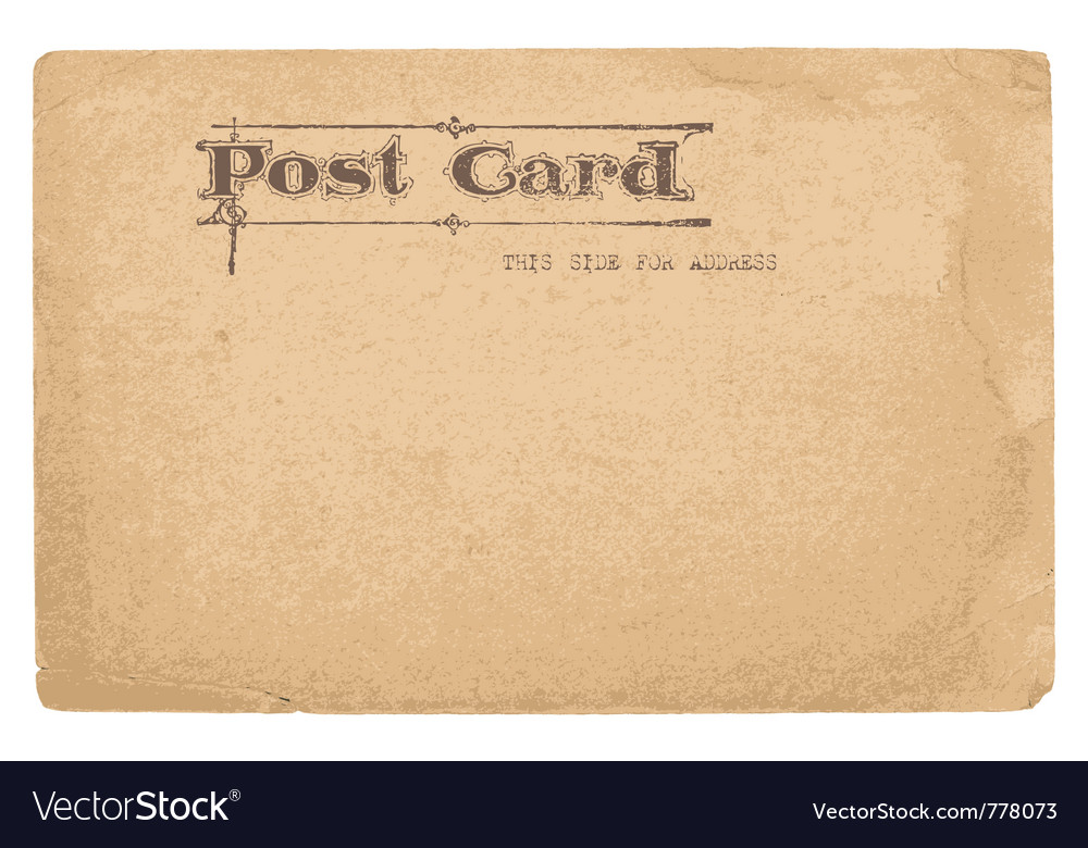 Antique postcard in - see more in my profile vector | Price: 1 Credit (USD $1)