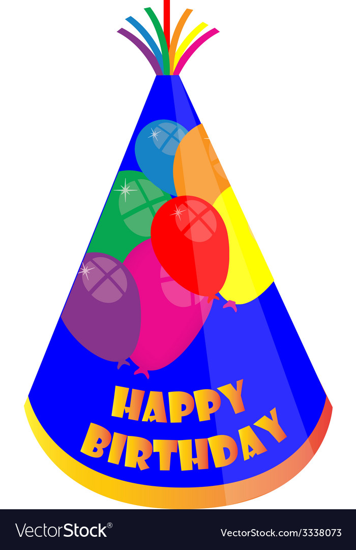Birthday hat vector