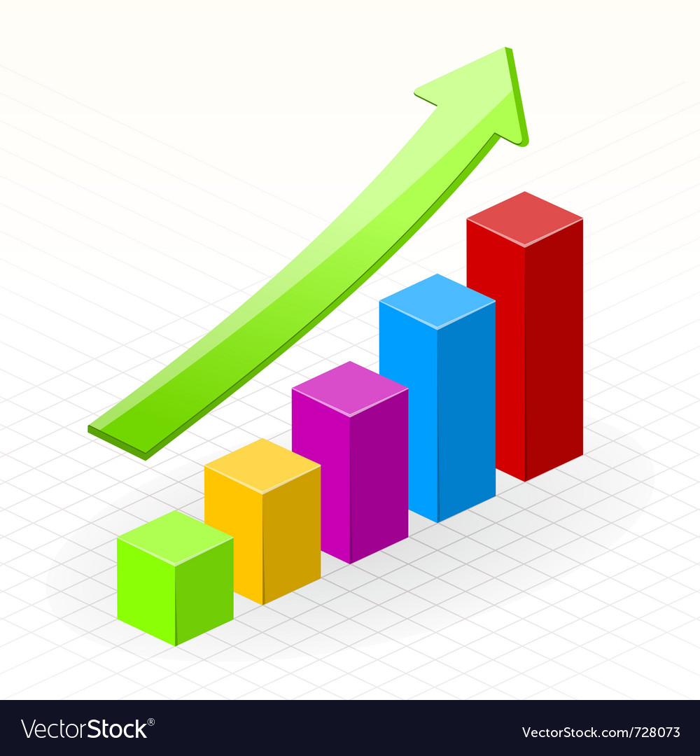 Business growth success chart vector | Price: 1 Credit (USD $1)
