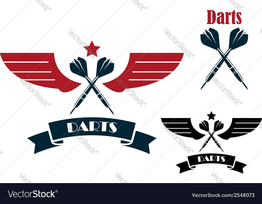 Darts emblems and symbols vector | Price: 1 Credit (USD $1)