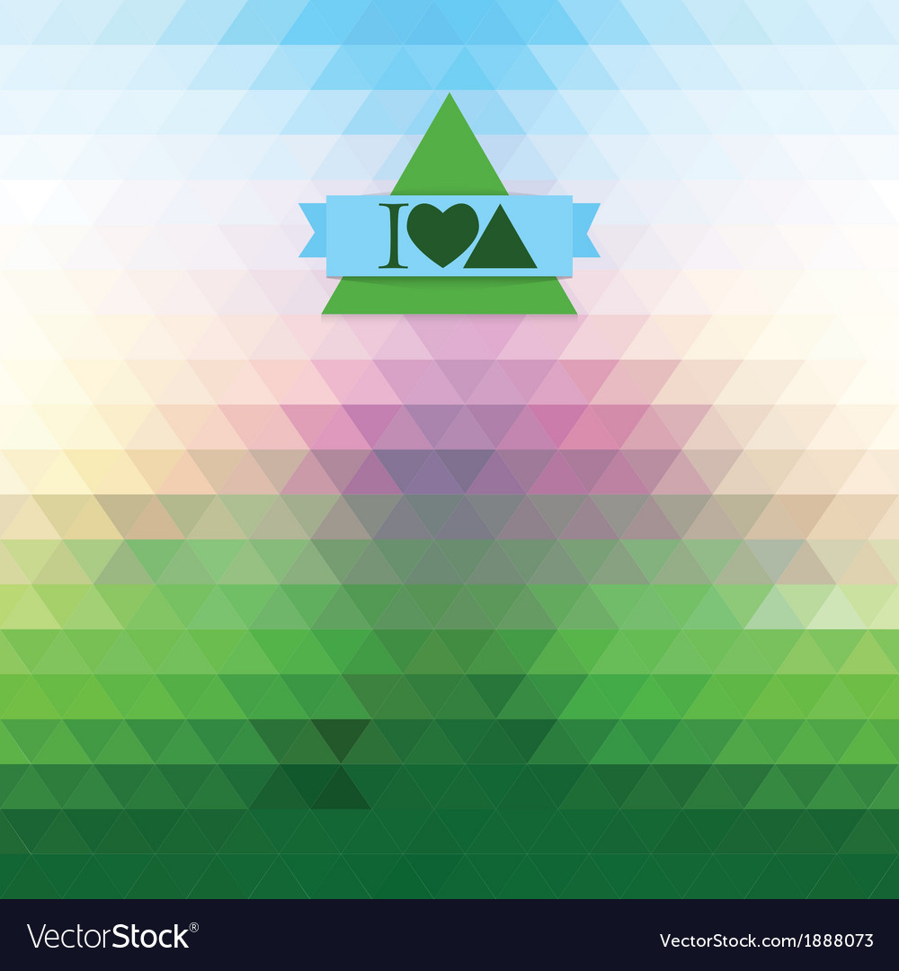 Dawn of triangles vector | Price: 1 Credit (USD $1)