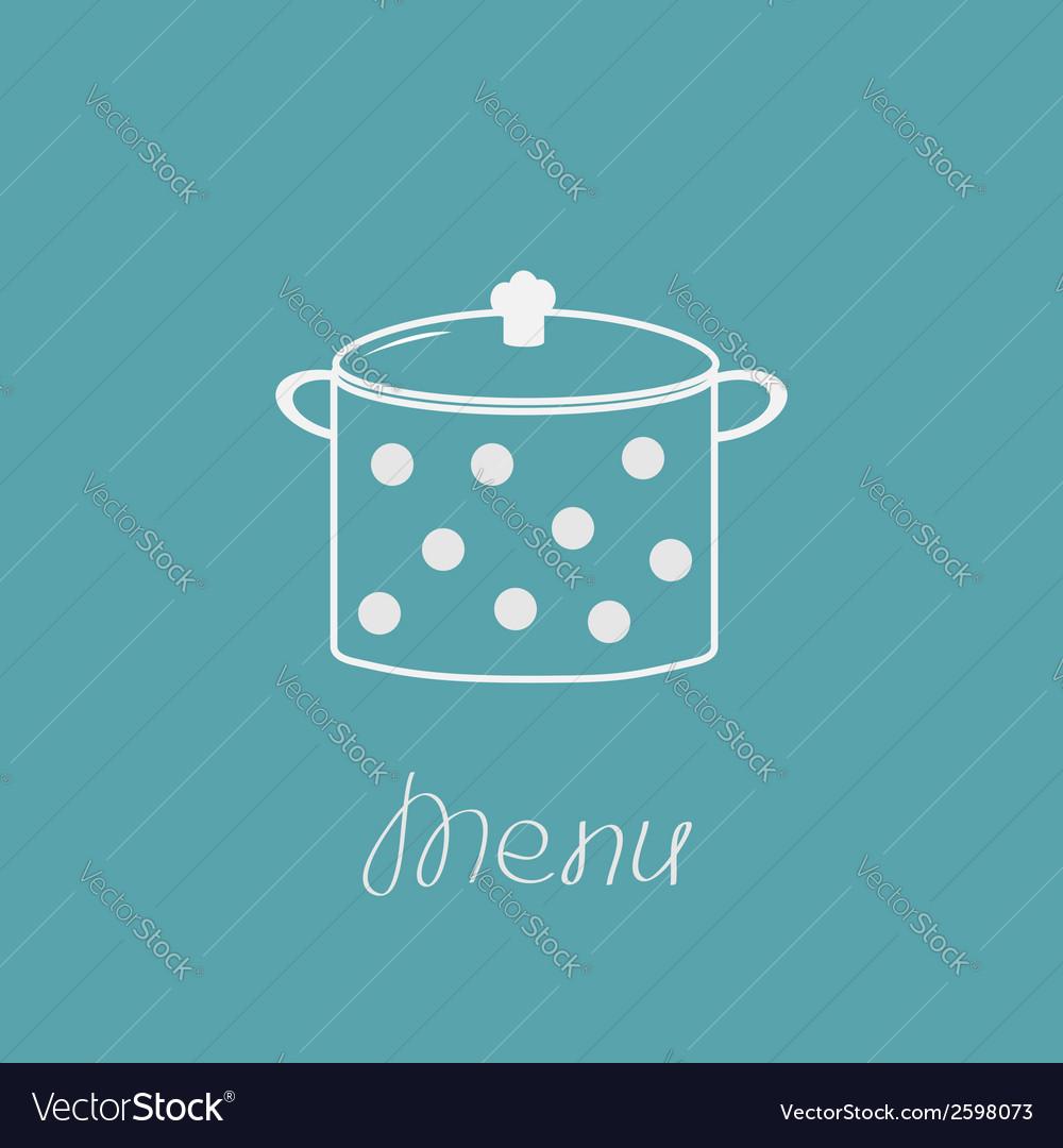 Saucepan with dots menu cover vector | Price: 1 Credit (USD $1)