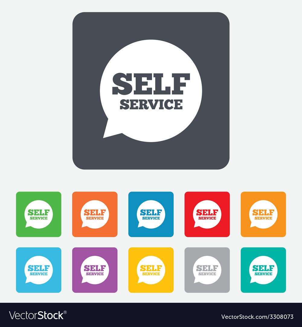 Self service sign icon maintenance symbol vector | Price: 1 Credit (USD $1)