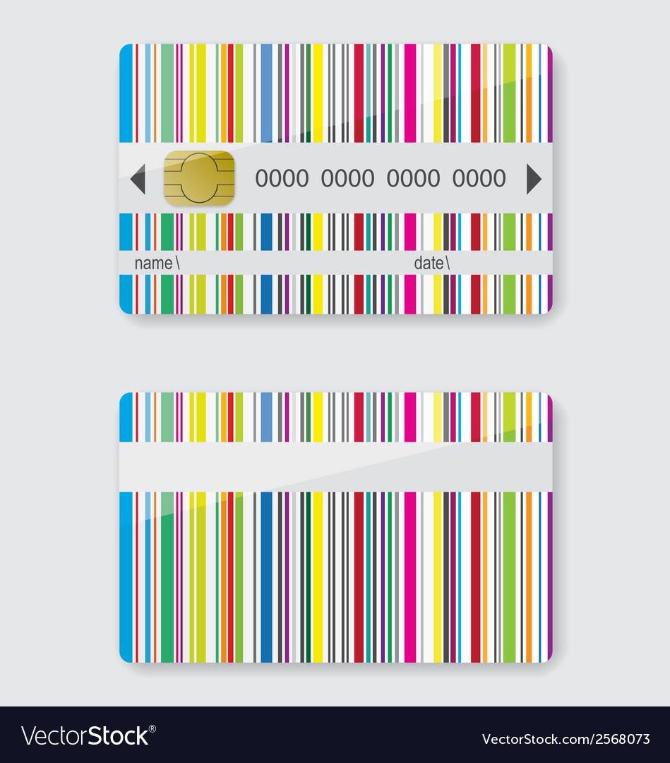 Striped credit card vector   Price: 1 Credit (USD $1)