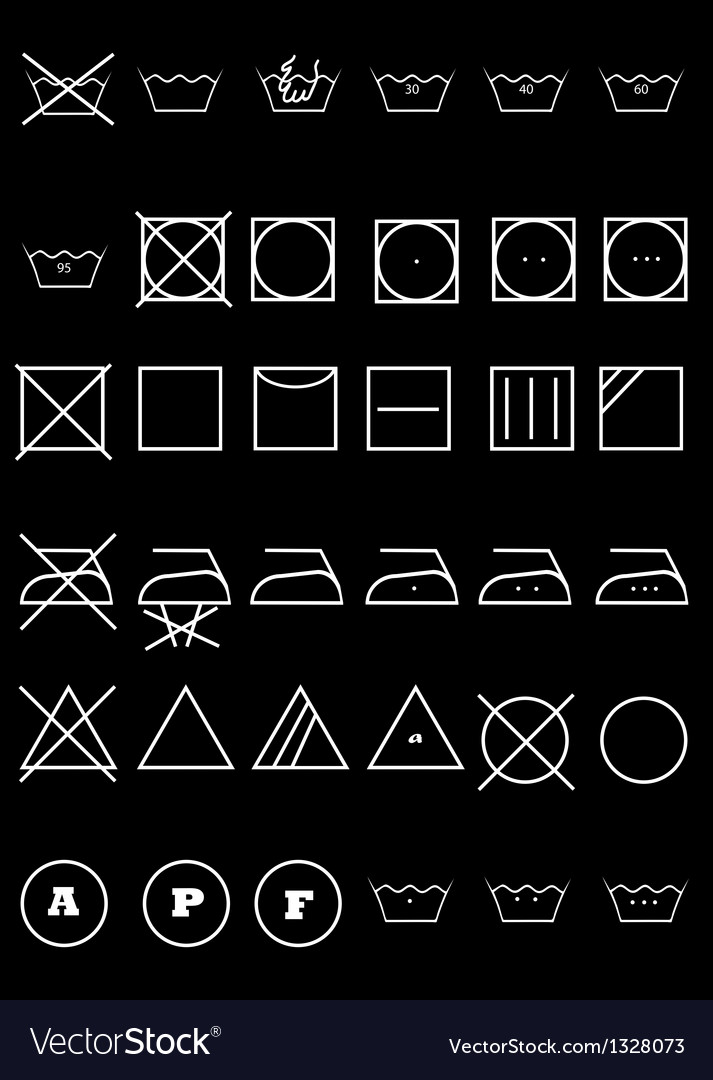 Symbols for clothes vector | Price: 1 Credit (USD $1)