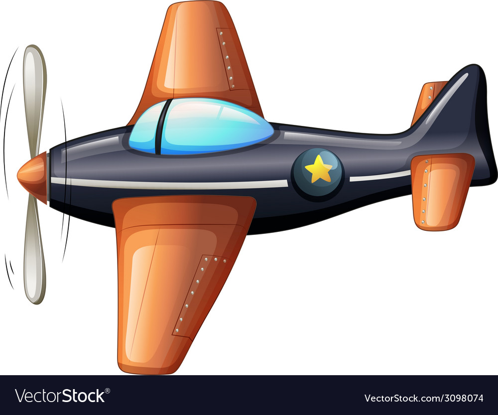 A vintage airplane vector | Price: 1 Credit (USD $1)