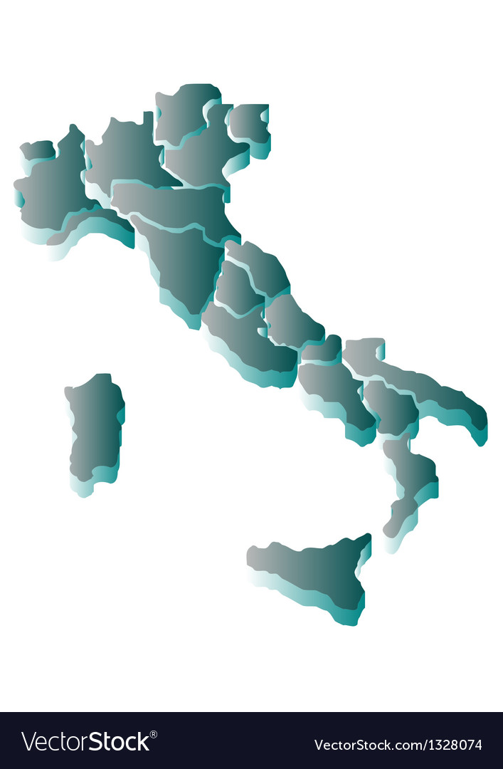 Abstract map of italy vector | Price: 1 Credit (USD $1)
