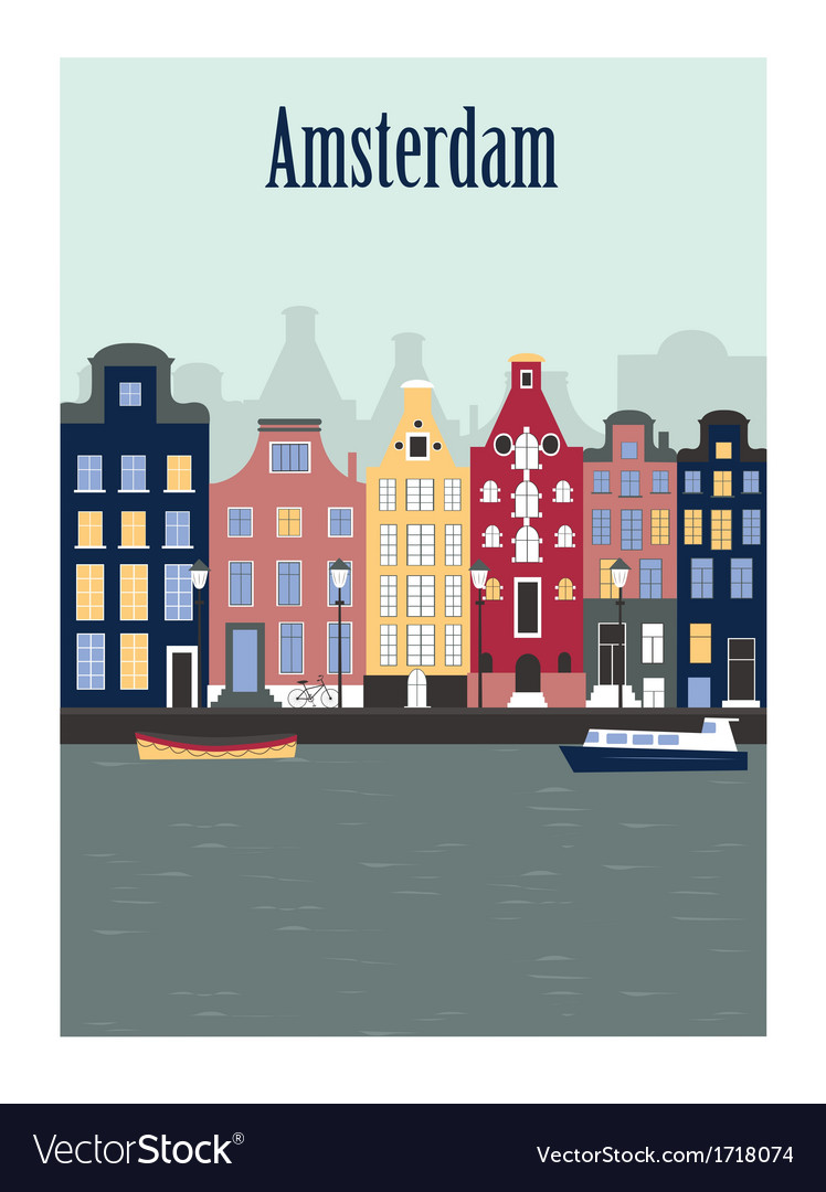 Amsterdam city vector | Price: 1 Credit (USD $1)