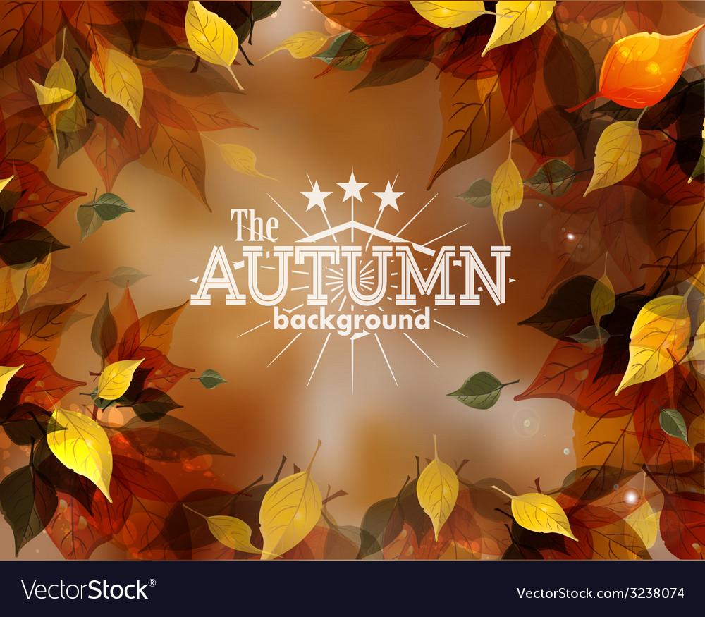 Autumn background vector | Price: 1 Credit (USD $1)