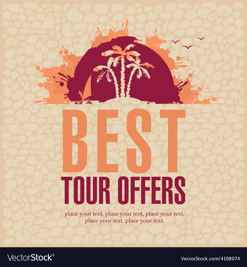 Best tour offers vector | Price: 1 Credit (USD $1)