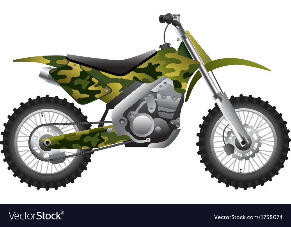 Camouflage motorcycle vector | Price: 1 Credit (USD $1)