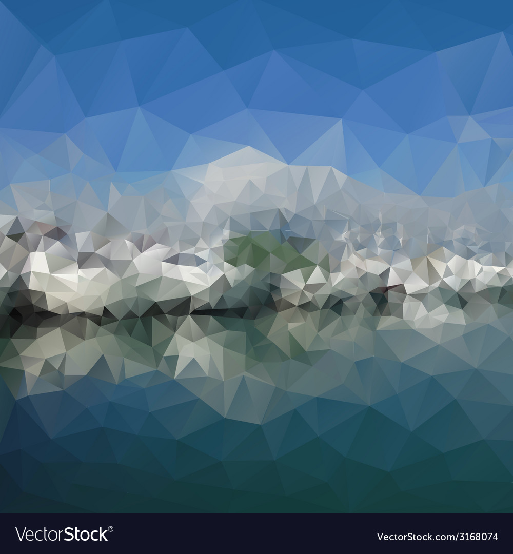Colored abstract background mountains and sea vector | Price: 1 Credit (USD $1)