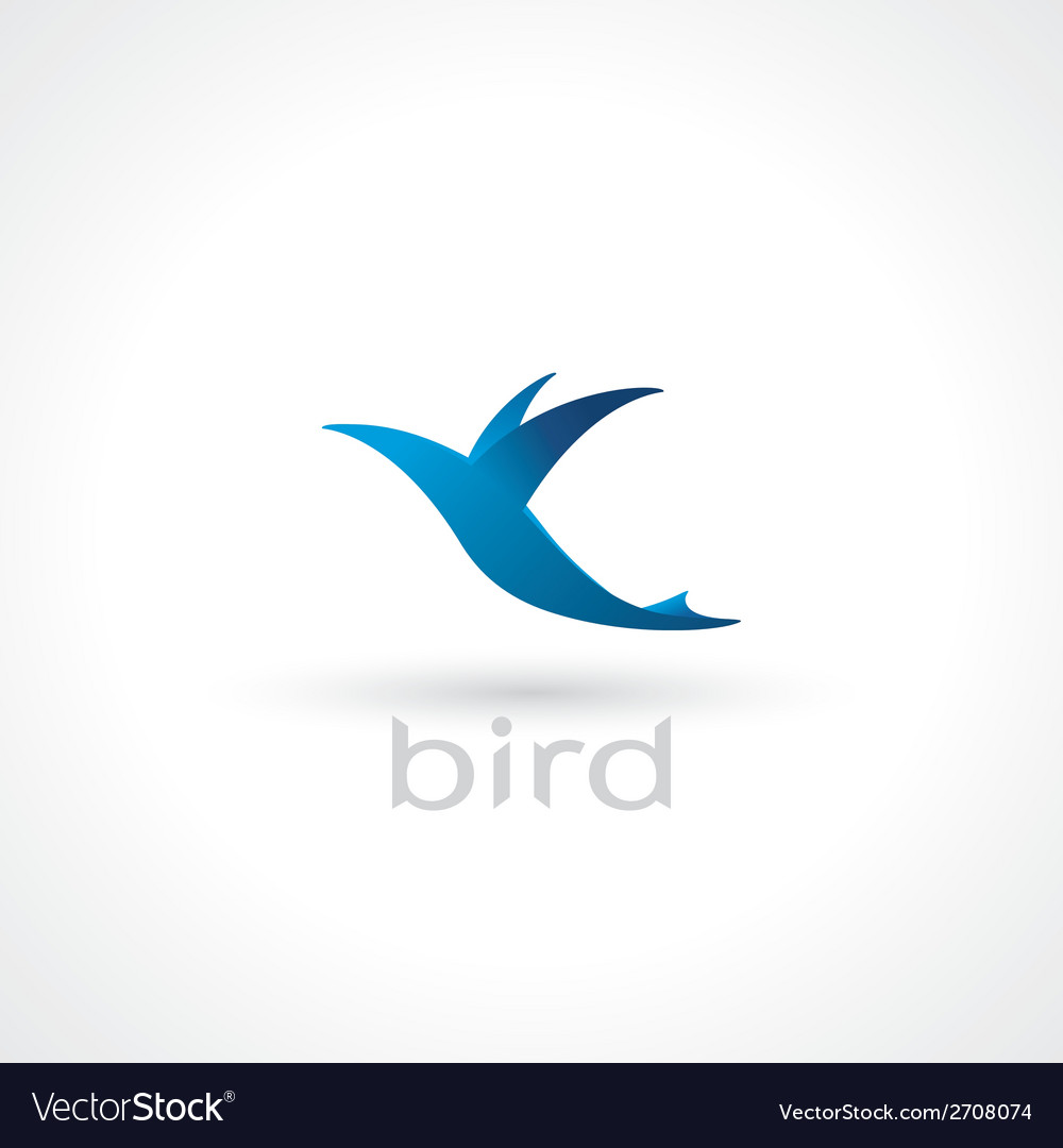 Flying bird vector | Price: 1 Credit (USD $1)