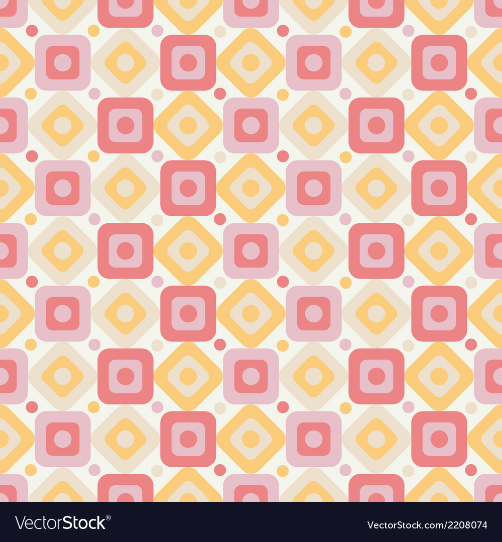 Geometric abstract seamless pattern on white vector | Price: 1 Credit (USD $1)