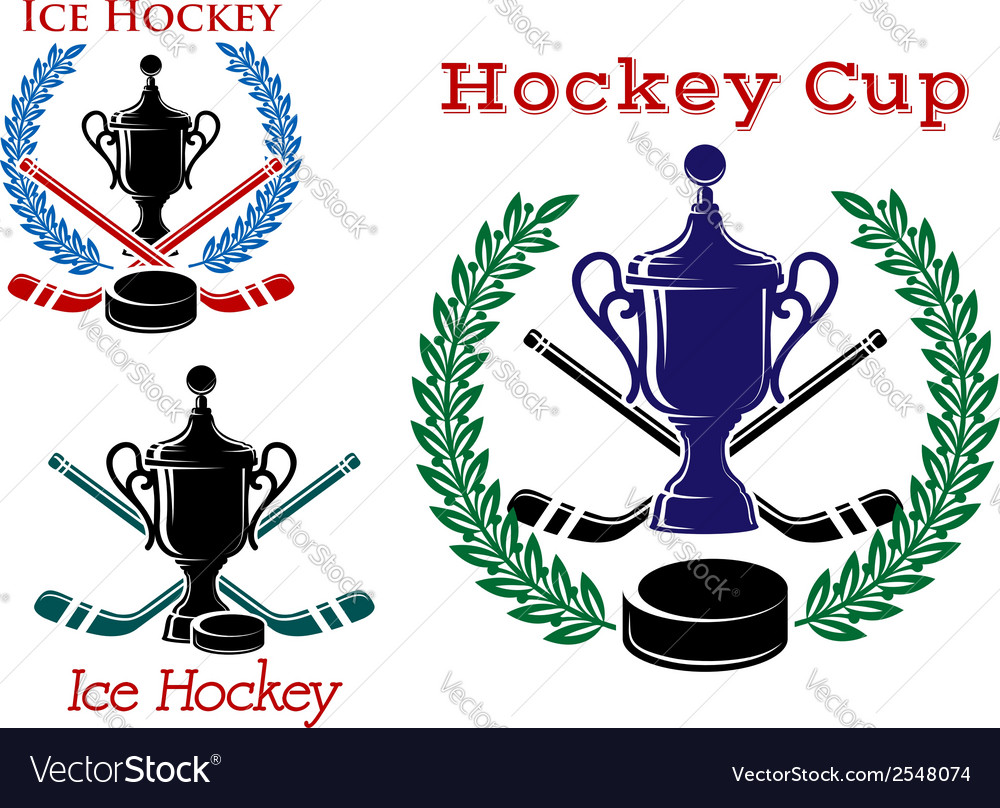 Ice hockey emblems and symbols vector | Price: 1 Credit (USD $1)
