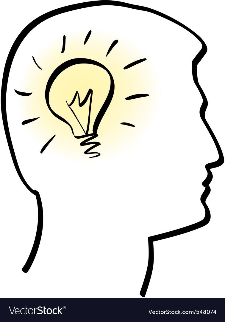 Idea bulb vector | Price: 1 Credit (USD $1)