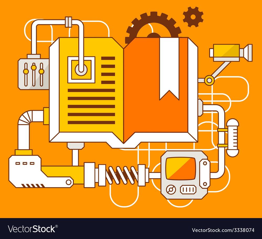 Industrial of the mechanism of open book vector | Price: 3 Credit (USD $3)