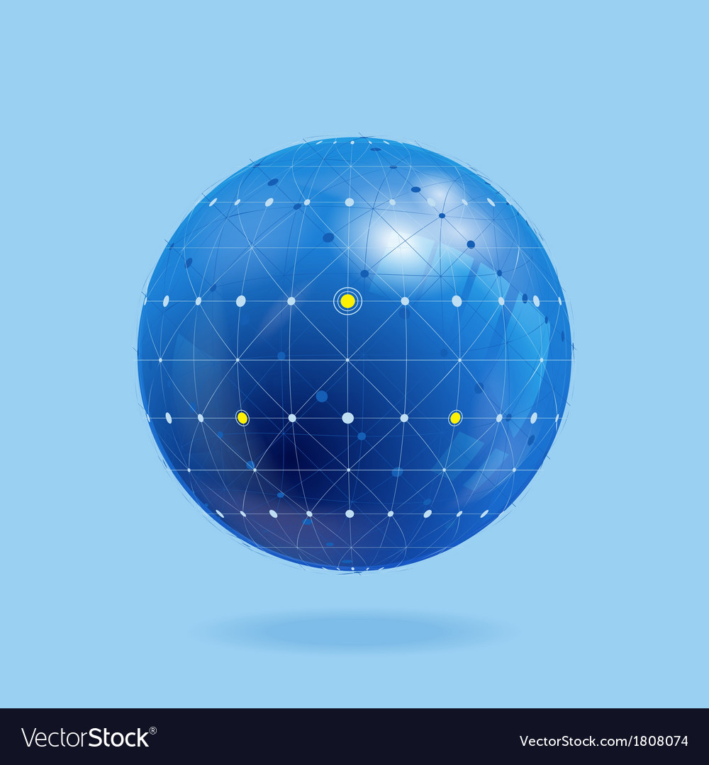 Network globe vector | Price: 1 Credit (USD $1)