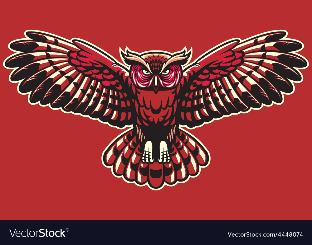 Owl spreading the wings vector | Price: 3 Credit (USD $3)