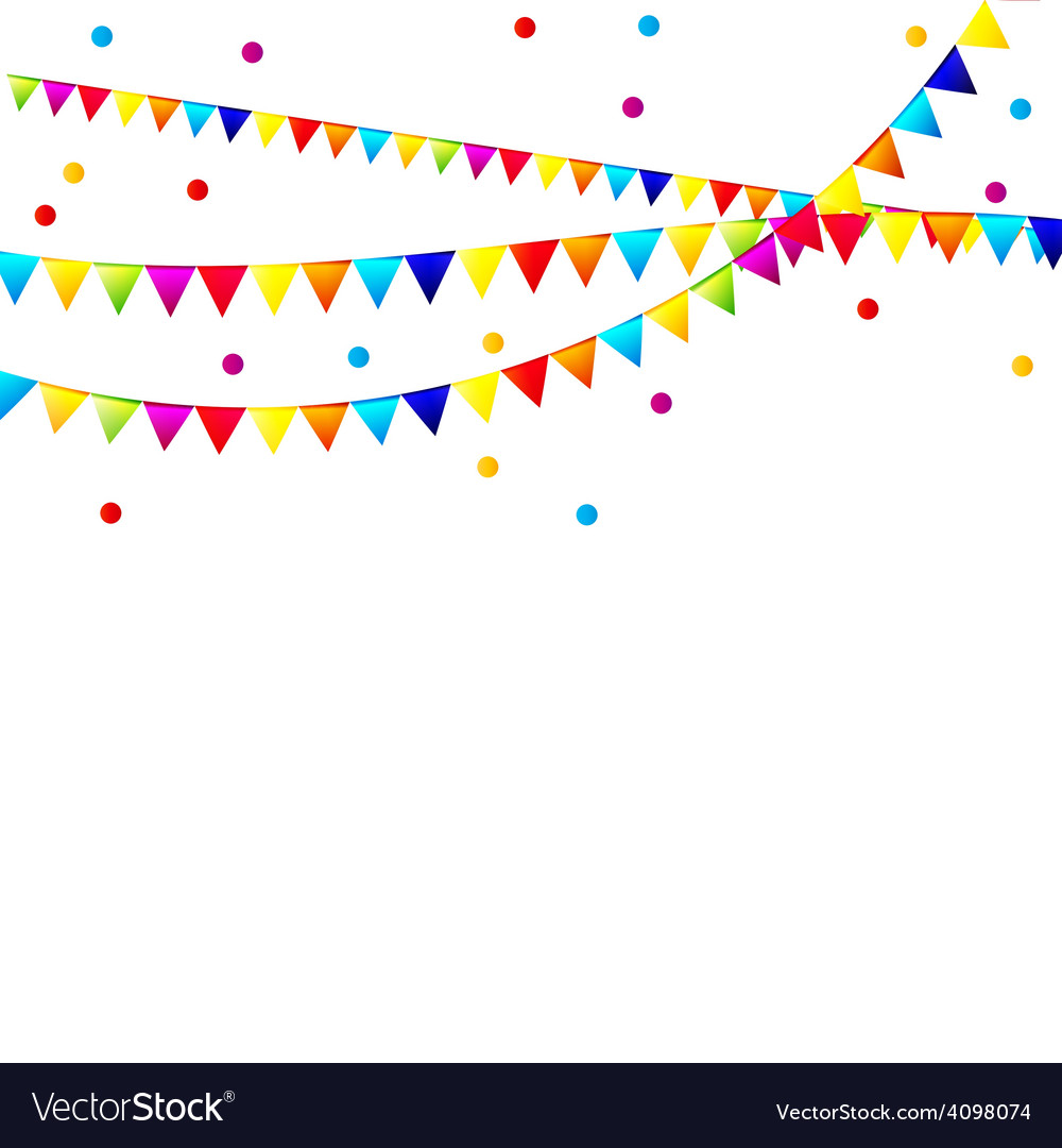 Party background with flags vector | Price: 1 Credit (USD $1)