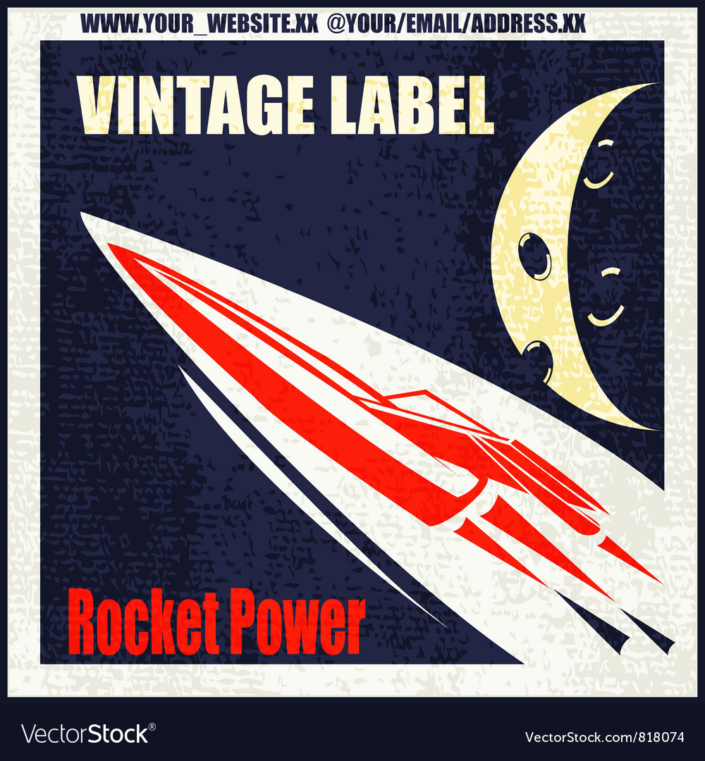 Retro rocket vector | Price: 1 Credit (USD $1)