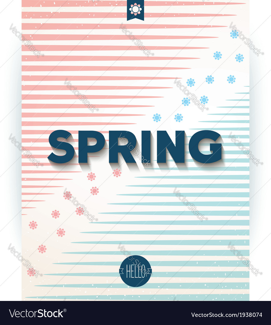 Spring retro hipster poster vector | Price: 1 Credit (USD $1)