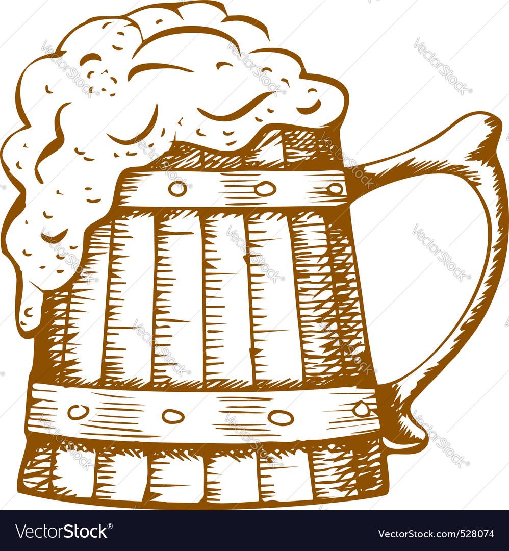 Wooden beer mug vector | Price: 1 Credit (USD $1)